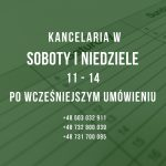 Adwokaci i Radcy Prawni - soboty i niedziele