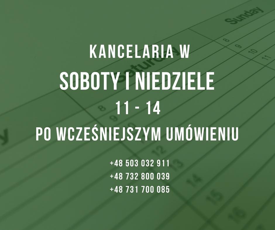 Kancelaria Prawna Mohylak w soboty i niedziele